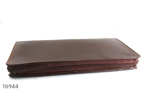 عکس کیف چرم طبیعی دسته چک زیپ دار - شماره 2