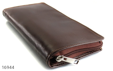 عکس کیف چرم طبیعی دسته چک زیپ دار - شماره 3