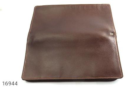عکس کیف چرم طبیعی دسته چک زیپ دار - شماره 4