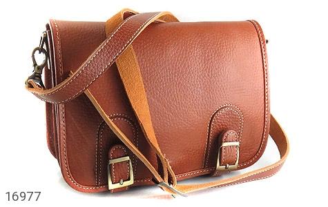 عکس کیف چرم طبیعی بند دار قهوه ای
