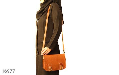 تصویر کیف چرم طبیعی بند دار قهوه ای - شماره 11