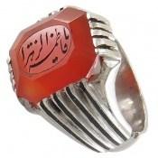 انگشتر نقره عقیق قرمز یمن حکاکی یا فاطمه الزهرا مردانه