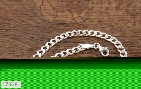 عکس دستبند نقره درشت طرح بافت