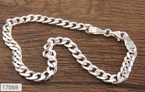 تصویر دستبند نقره درشت طرح بافت - شماره 2