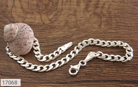 تصویر دستبند نقره درشت طرح بافت - شماره 3