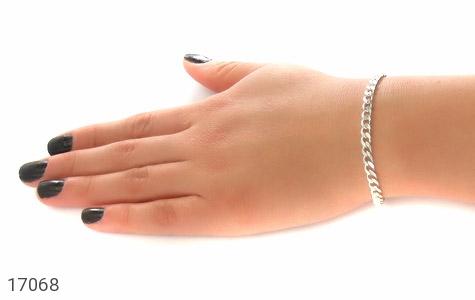 عکس دستبند نقره درشت طرح بافت - شماره 6