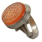 انگشتر نقره عقیق یمن حکاکی یا فاطمه مردانه