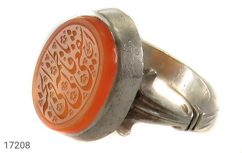 عکس انگشتر نقره عقیق یمن حکاکی یا فاطمه مردانه