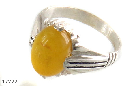 عکس انگشتر نقره عقیق زرد شرف الشمس طرح ارشیا مردانه