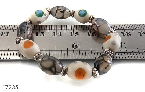 تصویر دستبند استخوان و عقیق زنانه - شماره 5