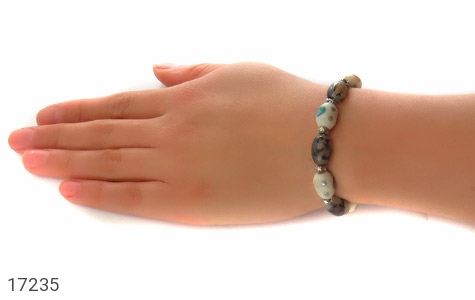 تصویر دستبند استخوان و عقیق زنانه - شماره 6