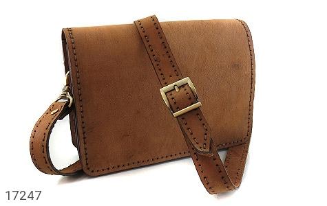 عکس کیف چرم طبیعی مدل دوشی طرح اسپرت و خاص - شماره 1