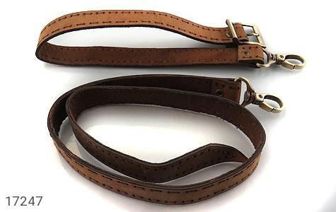 عکس کیف چرم طبیعی مدل دوشی طرح اسپرت و خاص - شماره 8