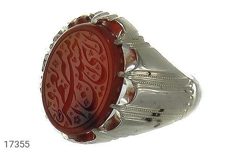 عکس انگشتر نقره عقیق یمنی امیری حسین و نعم الامیر مردانه