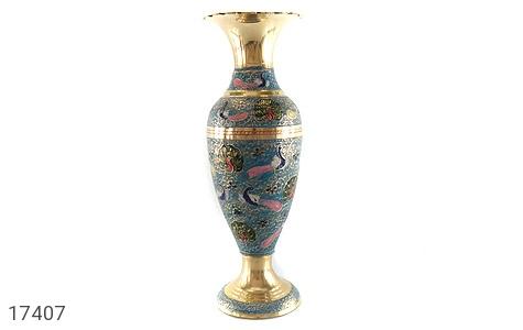 عکس تندیس برنج کشمیری طرح گلدان میناکاری سایز 3