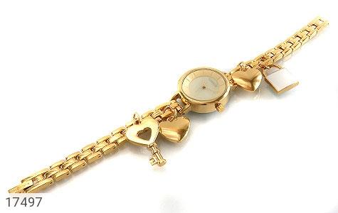 عکس ساعت رمانسون Romanson طلائی آویز کلید قفل قلب زنانه - شماره 1