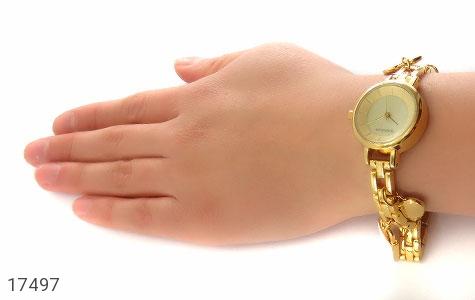 تصویر ساعت رمانسون Romanson طلائی آویز کلید قفل قلب زنانه - شماره 5