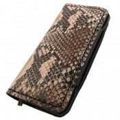 کیف چرم طبیعی ضربه گیر موبایل پلنگی مشکی زنانه
