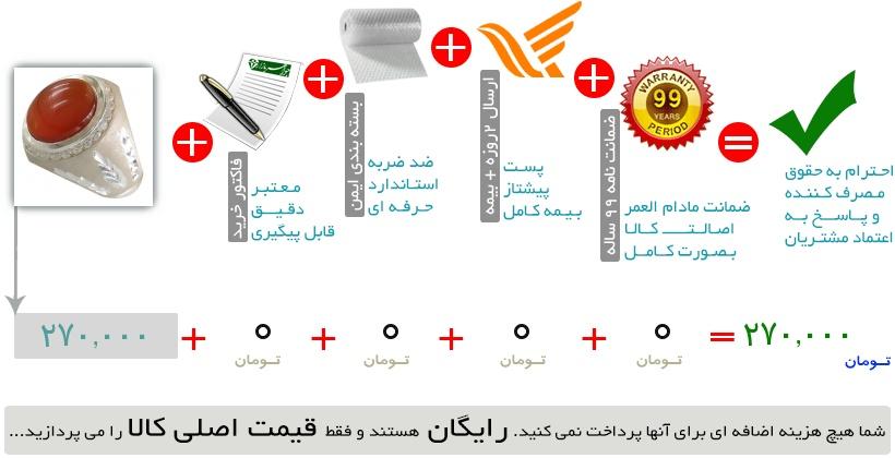 انگشتر عقیق خوش رنگ یمنی مردانه