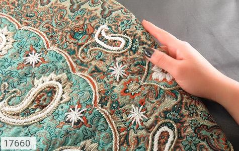 عکس ترمه رومیزی سایز بزرگ طرح دار بته جقه - شماره 6