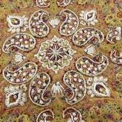 ترمه هفت رنگ رومیزی سایز بزرگ طرح بته جقه