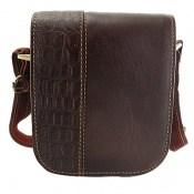 کیف چرم طبیعی دوشی طرح دار و جذاب