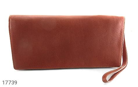 تصویر کیف چرم طبیعی دسته چک طرح زیپ دار - شماره 2