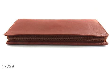 عکس کیف چرم طبیعی دسته چک طرح زیپ دار - شماره 3