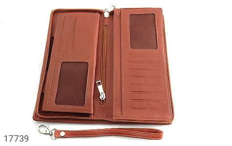عکس کیف چرم طبیعی دسته چک طرح زیپ دار - شماره 5