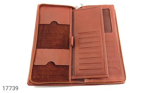 عکس کیف چرم طبیعی دسته چک طرح زیپ دار - شماره 6