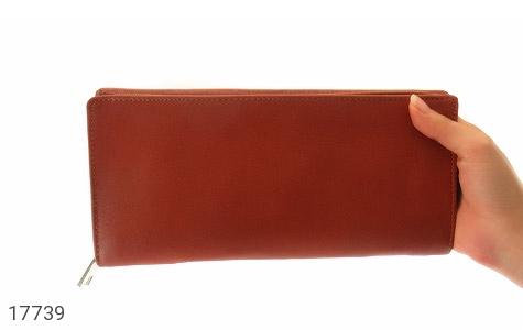 تصویر کیف چرم طبیعی دسته چک طرح زیپ دار - شماره 8