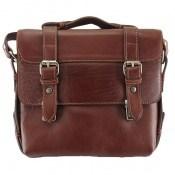 کیف چرم طبیعی قهوه ای طرح نیمه دیپلمات