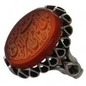 انگشتر نقره عقیق یمنی بابی انت و امی یا امیرالمؤمنین مردانه