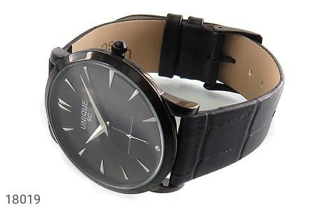 عکس ساعت یونیک UNIQUE کلاسیک صفحه مشکی مردانه - شماره 1