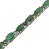 دستبند نقره زمرد پرنگین و سلطنتی زنانه