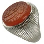 انگشتر نقره عقیق یمن احب الله من احب حسینا مردانه