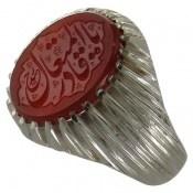 انگشتر نقره عقیق یمنی یا قادر المتعال مردانه
