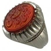 انگشتر نقره عقیق یمن نفسی لک الفداء یا حسین مردانه