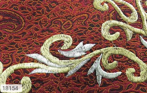 تصویر ترمه سجاده جانماز یزد بافت ابریشم و نخ گلدوزی طرح رحمت - شماره 3