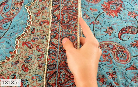 تصویر ترمه رومیزی سایز بزرگ طرح نشاط - شماره 5