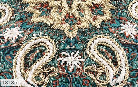 عکس ترمه رومیزی سایز بزرگ طرح طراوت - شماره 3