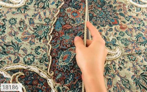 تصویر ترمه رومیزی سایز بزرگ طرح طراوت - شماره 5