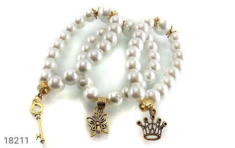 عکس دستبند مروارید سنتاتیک جذاب زنانه - شماره 3