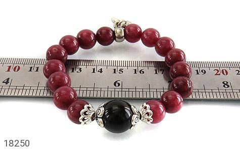 تصویر دستبند جید خوش رنگ با آویز قلب زنانه - شماره 5