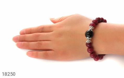 تصویر دستبند جید خوش رنگ با آویز قلب زنانه - شماره 6