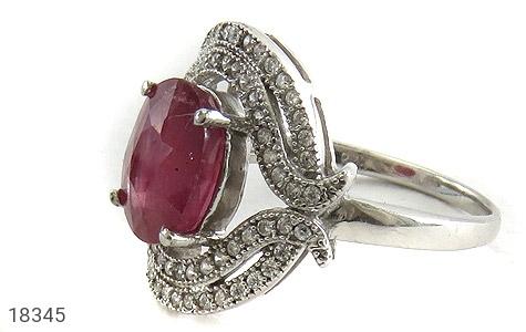 انگشتر نقره یاقوت سرخ طرح ملکه زنانه - 18345
