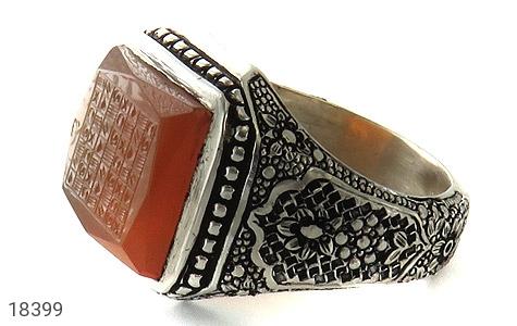 انگشتر نقره عقیق یمن هفت شرف فاخر استاد ضابطی مردانه - 18399
