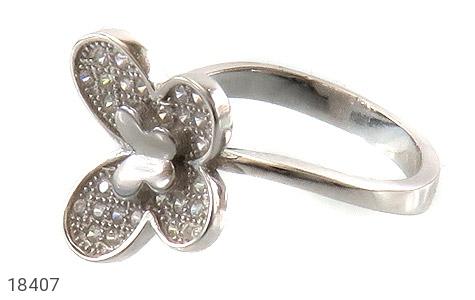 عکس انگشتر نقره درخشان طرح پروانه زنانه