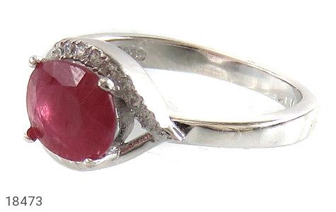 انگشتر نقره یاقوت سرخ طرح محبوب زنانه - 18473