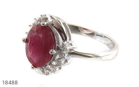 انگشتر نقره یاقوت سرخ طرح شکوه زنانه - 18488
